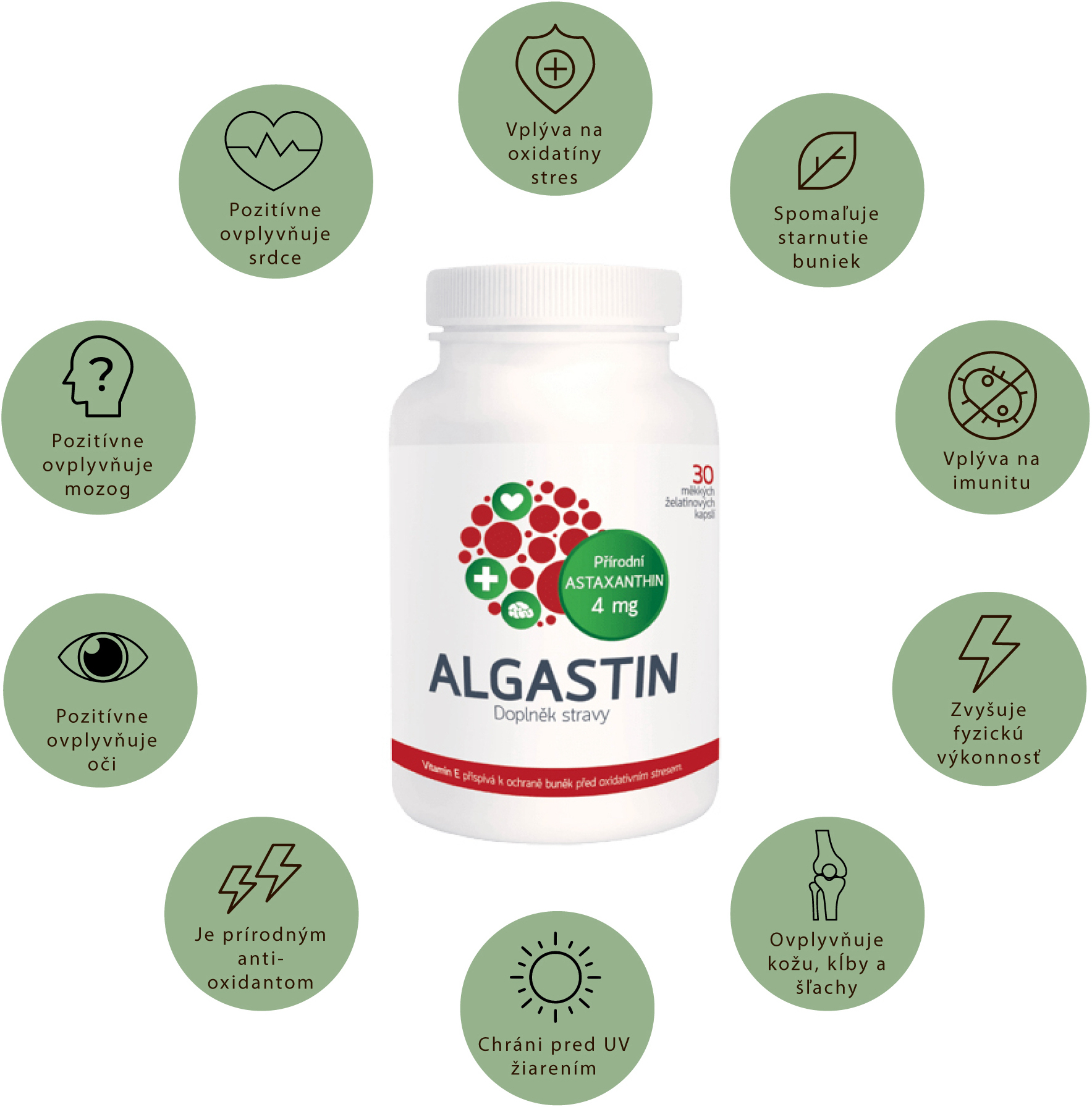 prírodný astaxanthin a jeho účinky