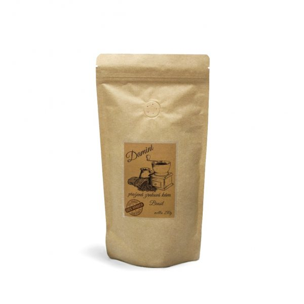 Pražená zrnková káva Brazilia Santos