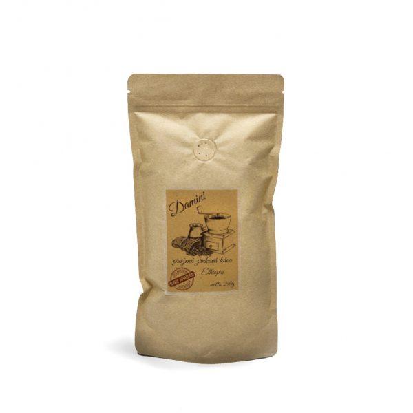 Pražená zrnková káva Etiopia Sidamo